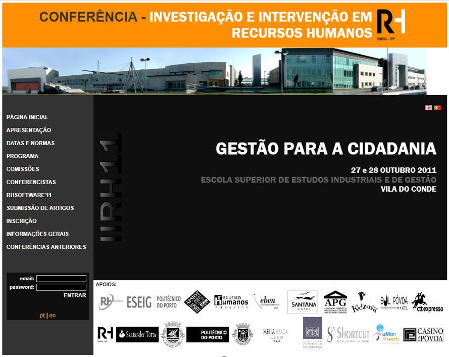 Ver N.º 3 (2011): III Conferência em Investigação e Intervenção em RH