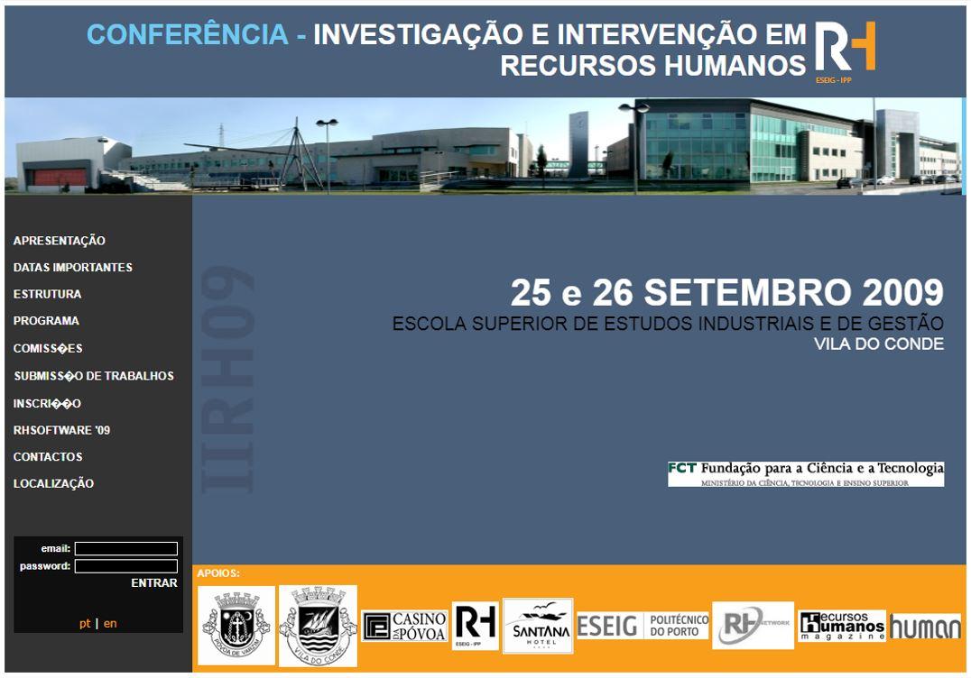 Ver N.º 1 (2009): I Conferência em Investigação e Intervenção em RH