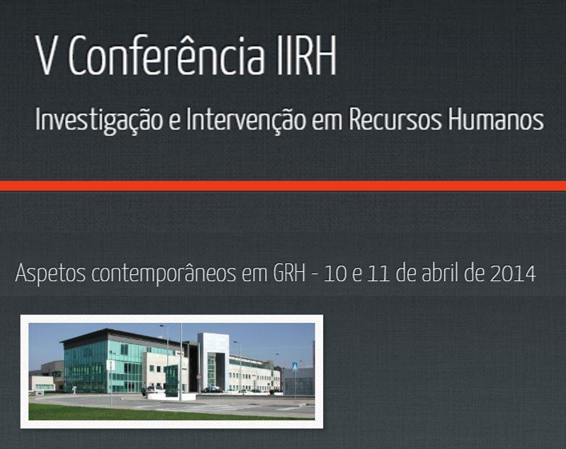 Ver N.º 5 (2014): V Conferência em Investigação e Intervenção em RH